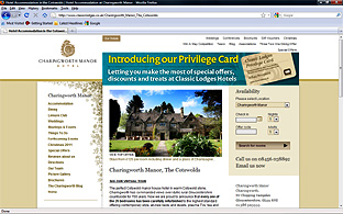Charingworth Manor Website